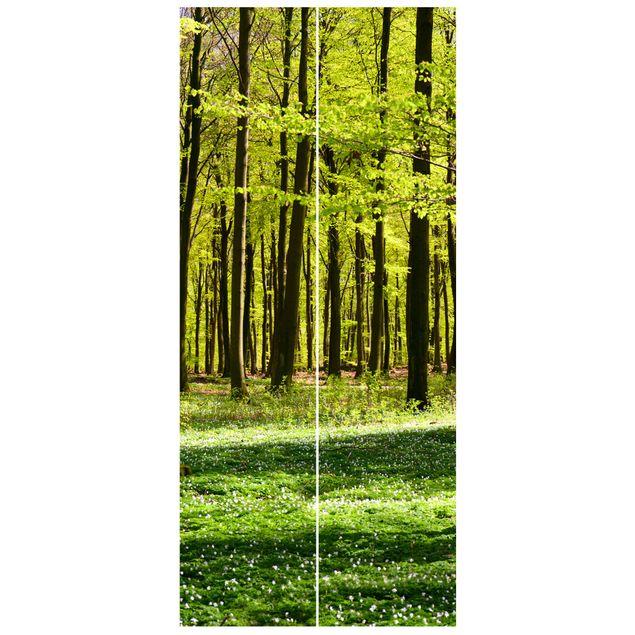 Türtapete - Waldwiese