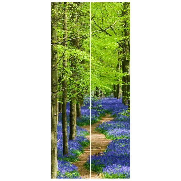 Türtapete - Wanderweg in Hertfordshire