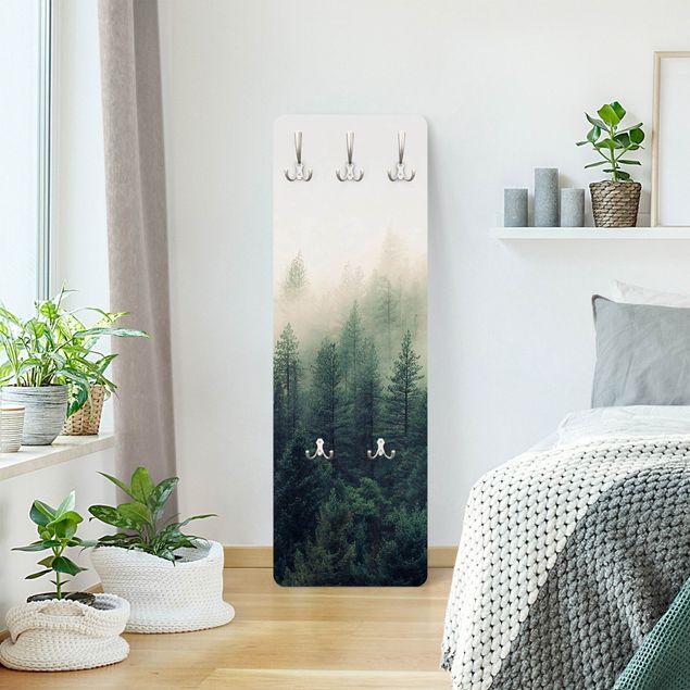 Garderobe - Wald im Nebel Erwachen