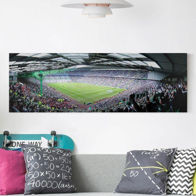 Leinwandbild - Fußballstadion - Panorama Quer