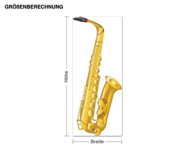 Wandbild Saxophon