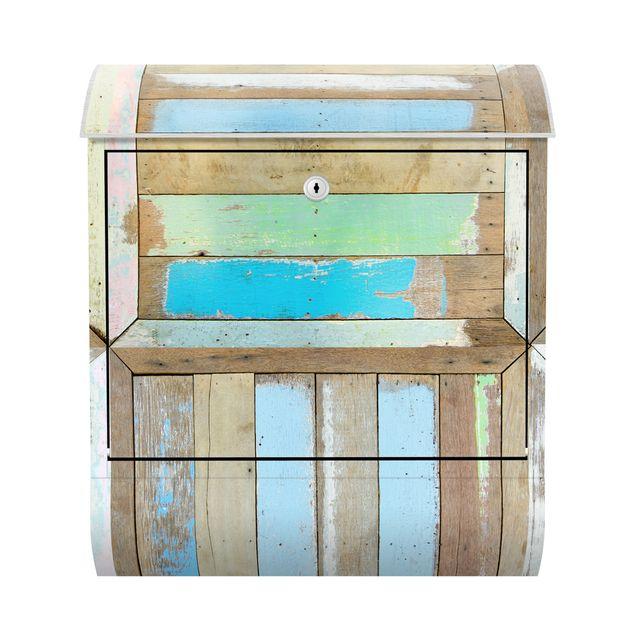 Wandbriefkasten - Rustic Timber - Briefkasten Blau