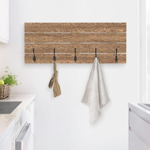 Wandgarderobe Holz - Amburana