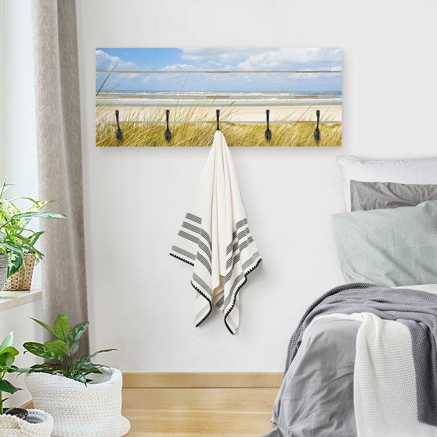 Wandgarderobe Holz - An der Nordseeküste