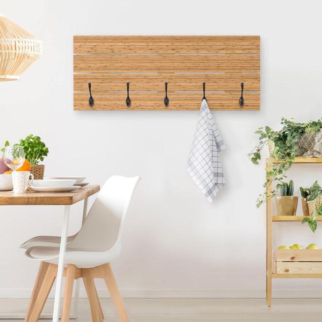 Wandgarderobe Holz - Bambus