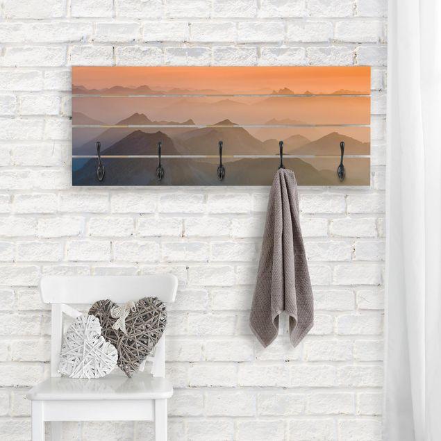 Wandgarderobe Holz - Blick von der Zugspitze