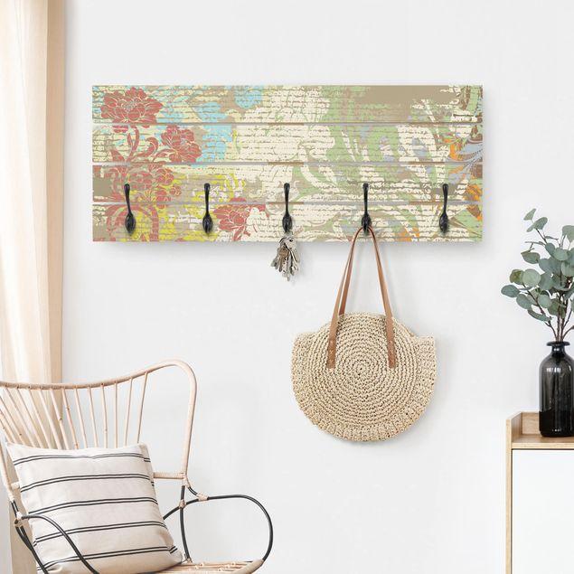 Wandgarderobe Holz - Blüten vergangener Zeit