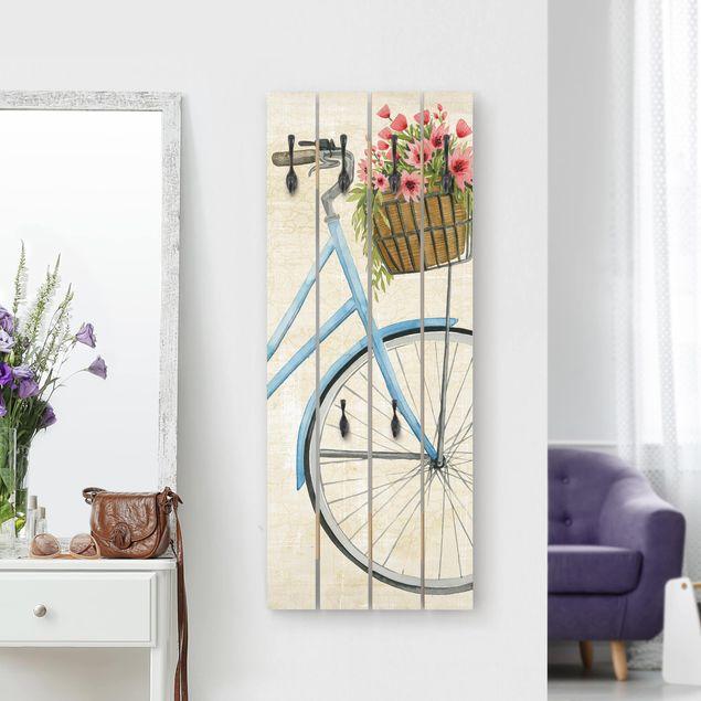 Wandgarderobe Holz - Blumenkurier I