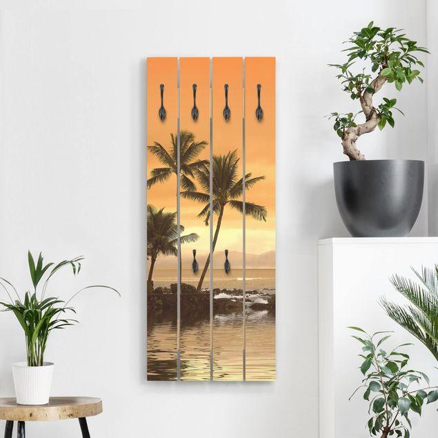 Wandgarderobe Holz - Caribbean Sunset I