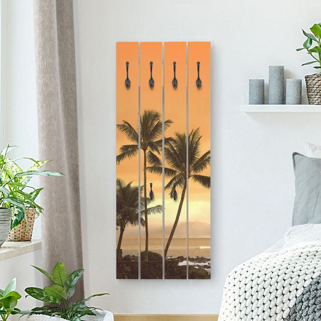Wandgarderobe Holz - Caribbean Sunset II