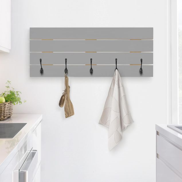 Wandgarderobe Holz - Colour Cool Grey
