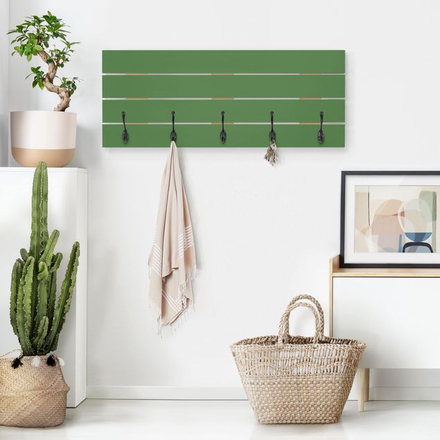 Wandgarderobe Holz - Colour Dark Green