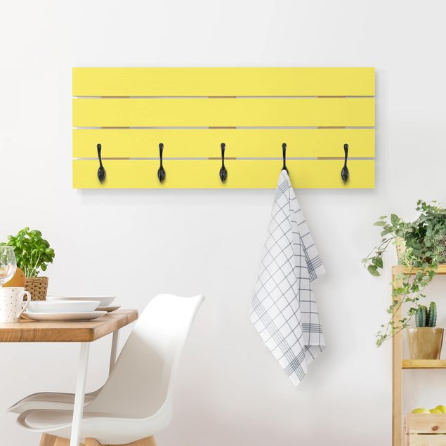 Wandgarderobe Holz - Colour Lemon Yellow
