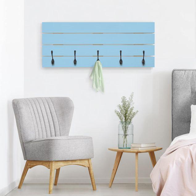 Wandgarderobe Holz - Colour Light Blue