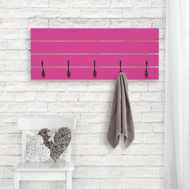 Wandgarderobe Holz - Colour Pink