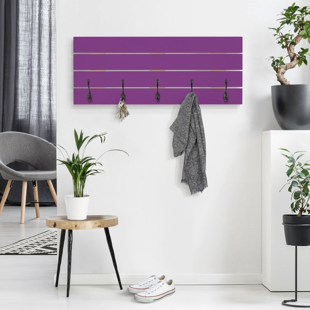 Wandgarderobe Holz - Colour Purple