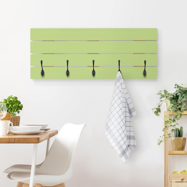 Wandgarderobe Holz - Colour Spring Green