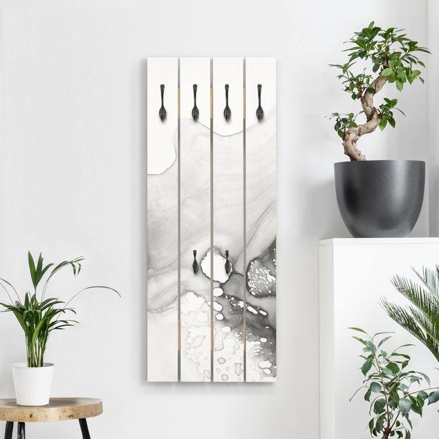 Wandgarderobe Holz - Dunst und Wasser IV