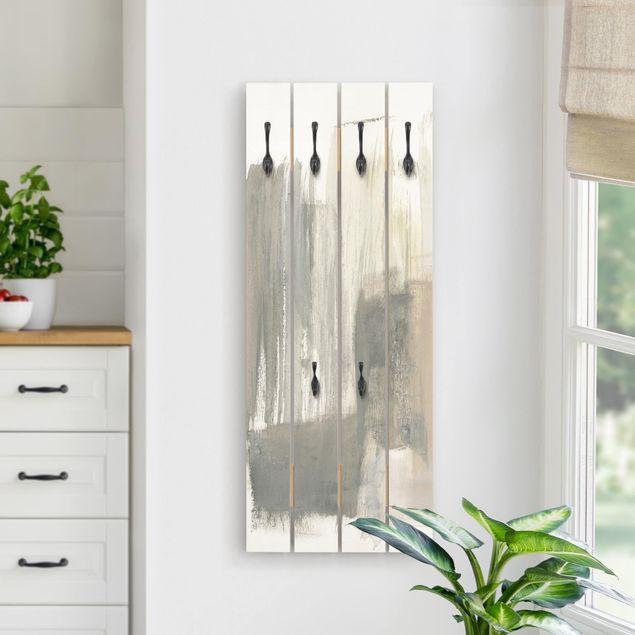 Wandgarderobe Holz - Ein Hauch von Pastell I