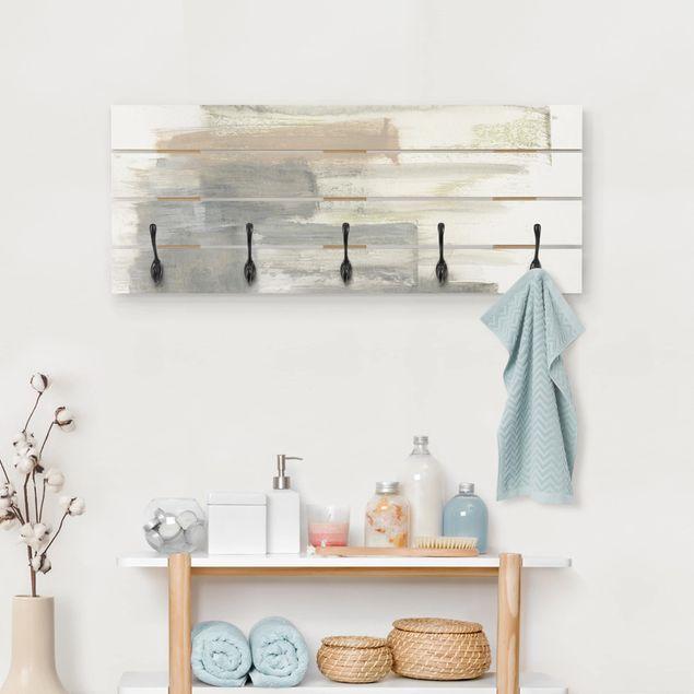 Wandgarderobe Holz - Ein Hauch von Pastell II