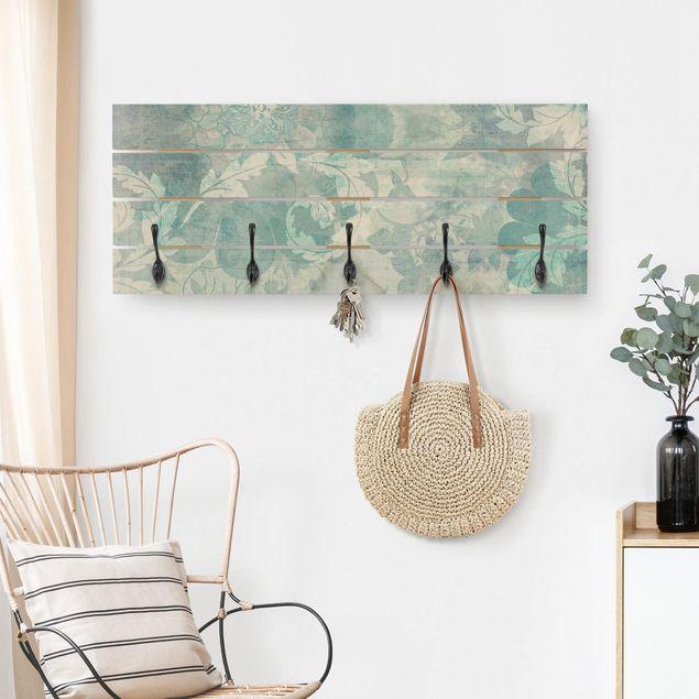 Wandgarderobe Holz - Eisblumen
