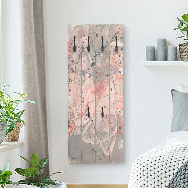 Wandgarderobe Holz - Erröten I