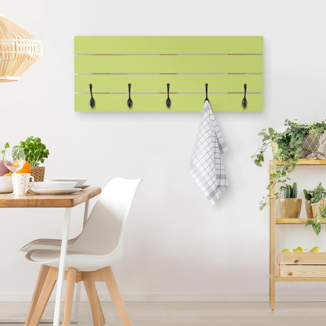Wandgarderobe Holz - Frühlingsgrün