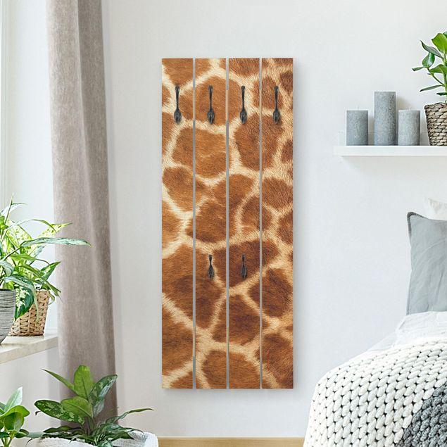 Wandgarderobe Holz - Giraffenfell