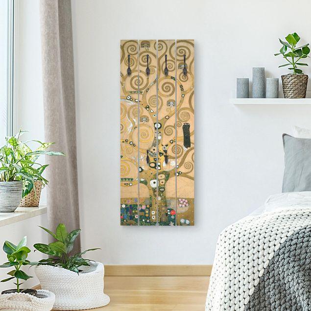 Wandgarderobe Holz - Gustav Klimt - Der Lebensbaum