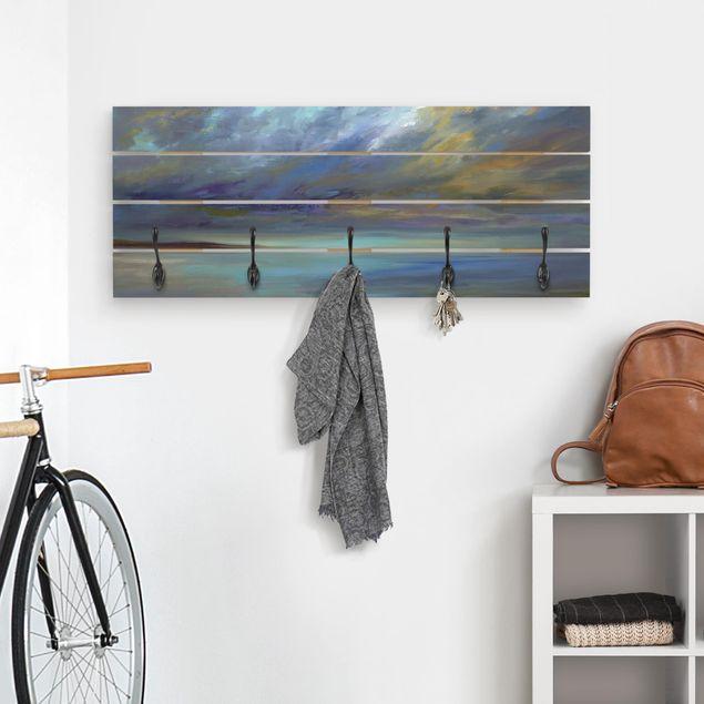 Wandgarderobe Holz - Himmel über Küste