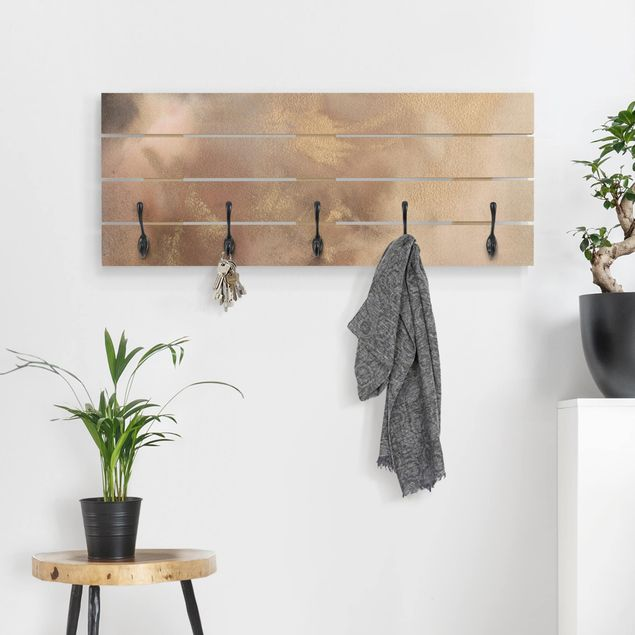 Wandgarderobe Holz - Himmelsträumerei II