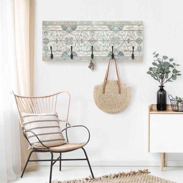 Wandgarderobe Holz - Holzpaneel Persisch Vintage II
