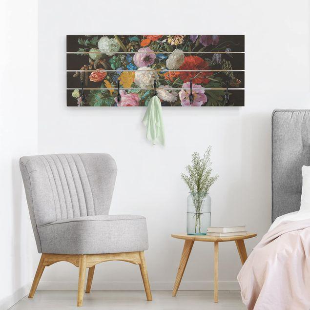 Wandgarderobe Holz - Jan Davidsz de Heem - Glasvase mit Blumen