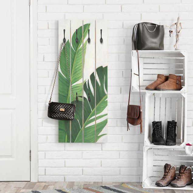 Wandgarderobe Holz - Lieblingspflanzen - Banane