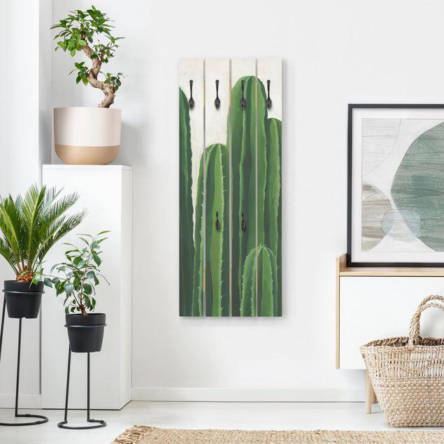 Wandgarderobe Holz - Lieblingspflanzen - Kaktus