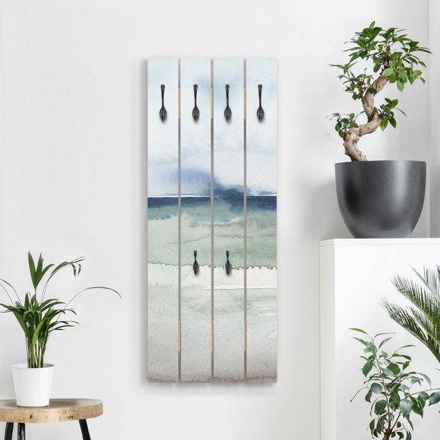 Wandgarderobe Holz - Meereswogen I