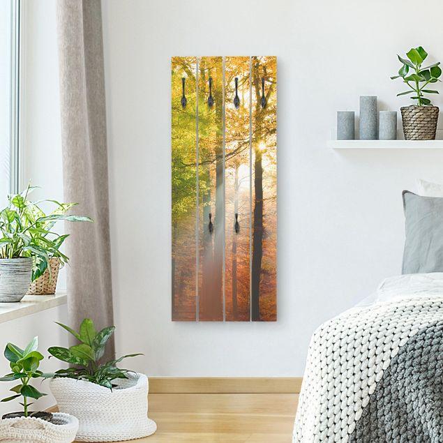 Wandgarderobe Holz - Morning Light