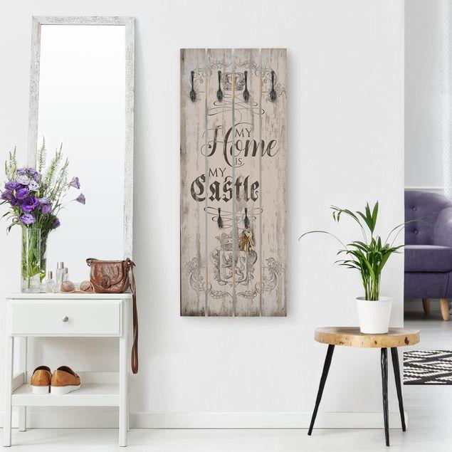Wandgarderobe Holz - My Home is my Castle