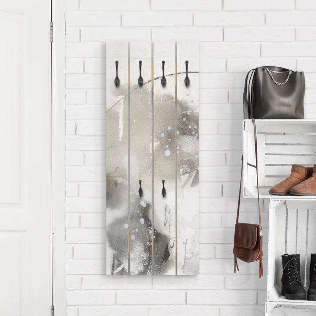 Wandgarderobe Holz - Mystische Objekte I