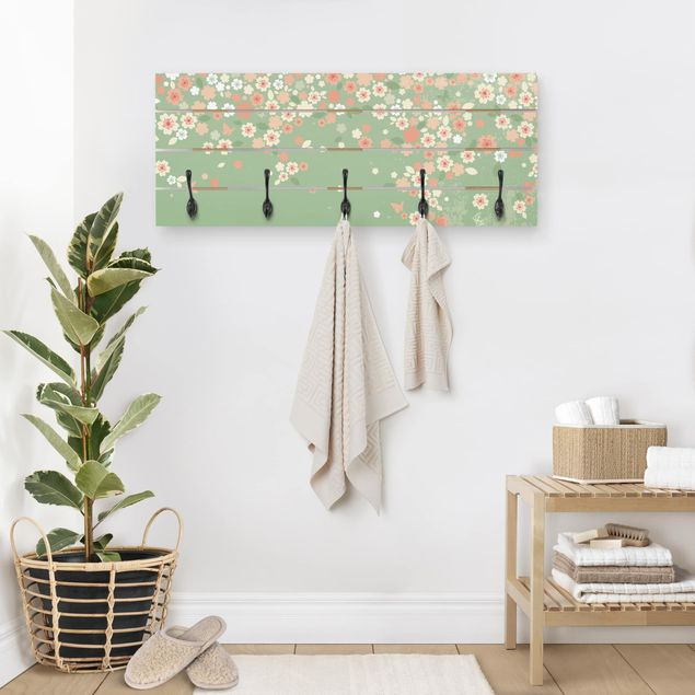 Wandgarderobe Holz - No.EK236 Spring Background