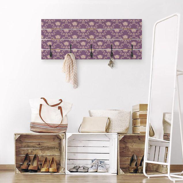 Wandgarderobe Holz - No.RS11 Blumenkorb Violett Layout