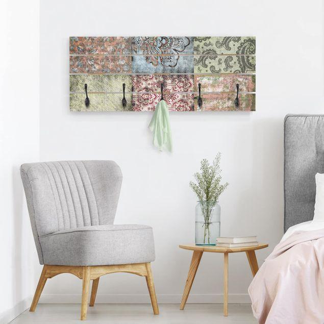 Wandgarderobe Holz - Old Patterns