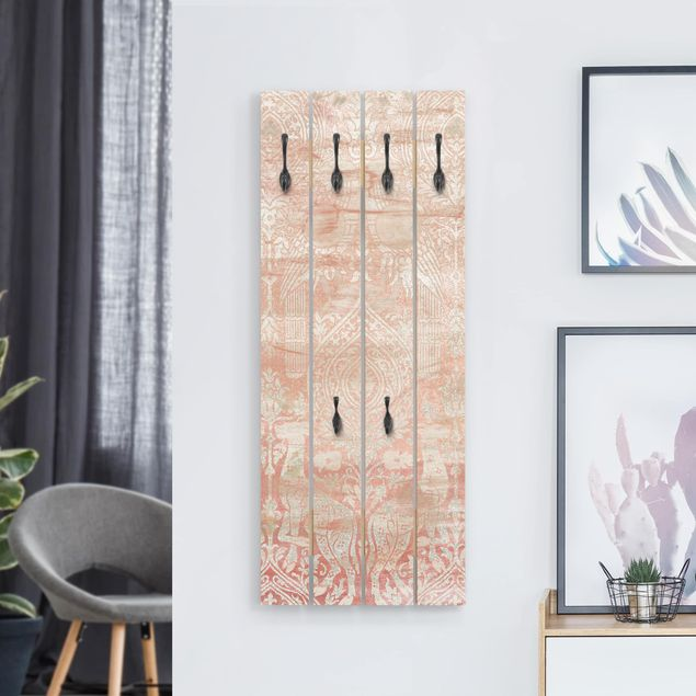Wandgarderobe Holz - Ornamentgewebe III