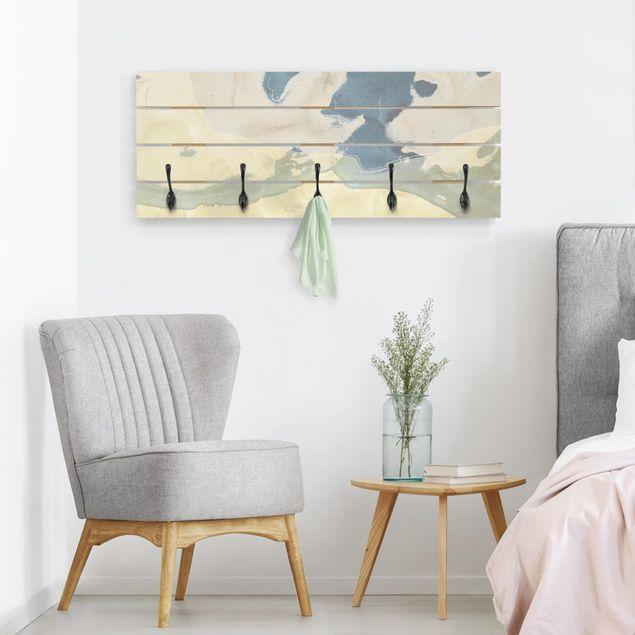 Wandgarderobe Holz - Ozean und Wüste II