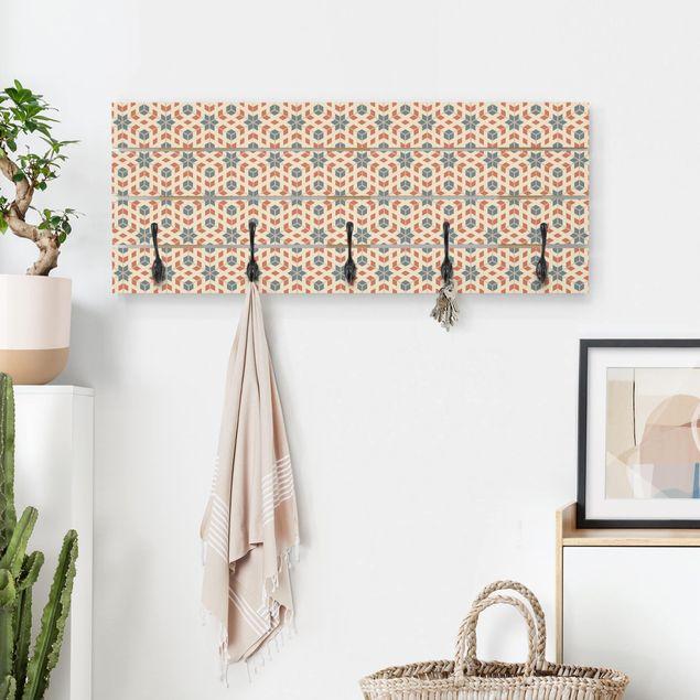 Wandgarderobe Holz - Pop Art Design