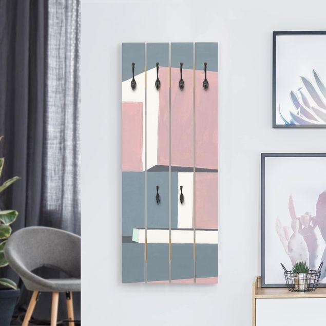 Wandgarderobe Holz - Schatten der Wände I