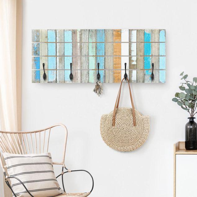 Wandgarderobe Holz - Shelves of the Sea