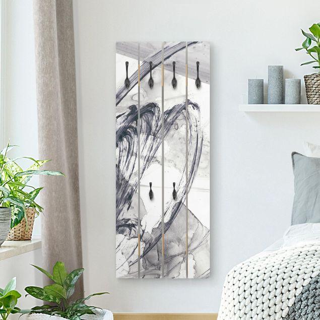 Wandgarderobe Holz - Sonar Schwarz Weiß I