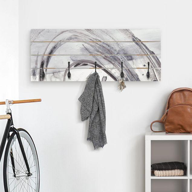 Wandgarderobe Holz - Sonar Schwarz Weiß II