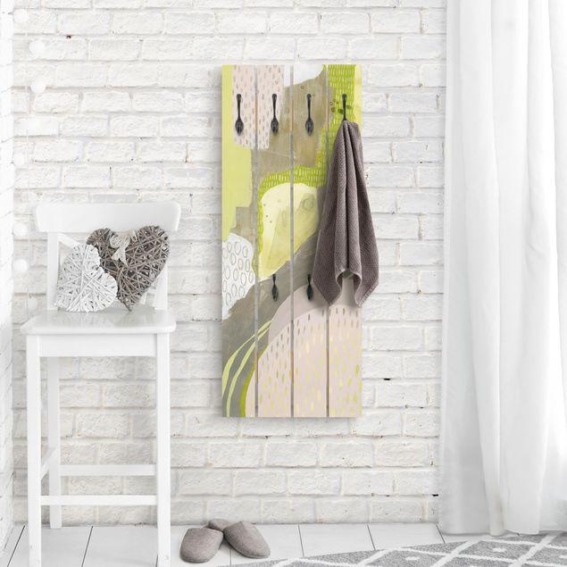 Wandgarderobe Holz - Sonnenflecken I